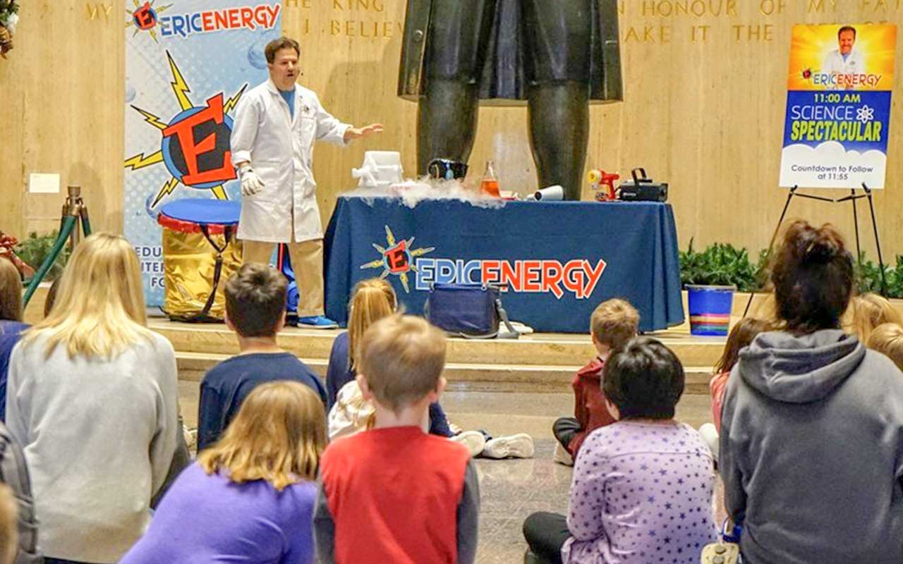 Science shows, birthday parties and events for kids in Baltimore, Columbia, Ellicott City, Pikesville, MD.