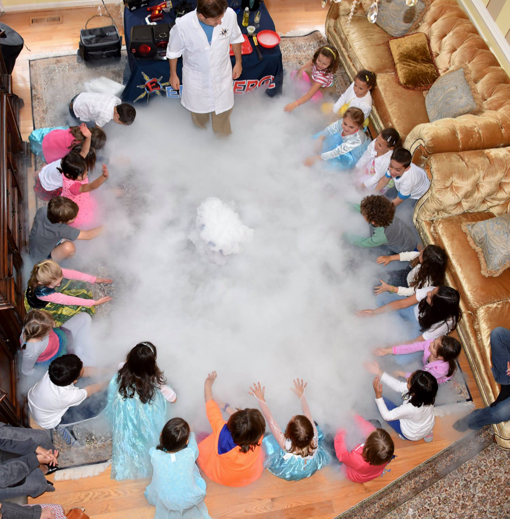Wacky Science Birthday Party Show for Kids in Baltimore, Harford, Ellicott City, Columbia, Maryland, Washington DC