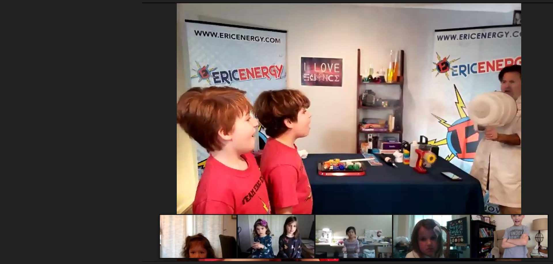 Eric Energy's virtual show includes dynamic science experiments, music, and movement. It is excellent for all ages and can be customized for a specific grade level.